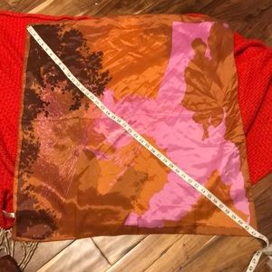 "Vintage acetate ""watercolor"" square scarf. BNWT"